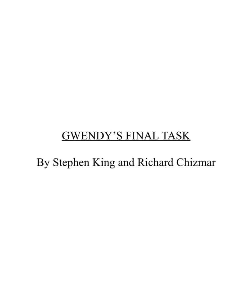 Gwendy's Final Task
